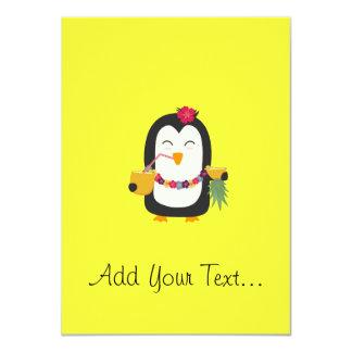 Hawaii Penguin 11 Cm X 16 Cm Invitation Card