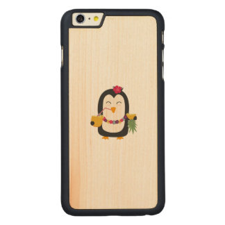 Hawaii Penguin Carved Maple iPhone 6 Plus Case