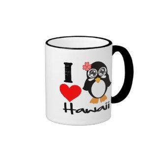 Hawaii Penguin - I Love Hawaii Coffee Mug