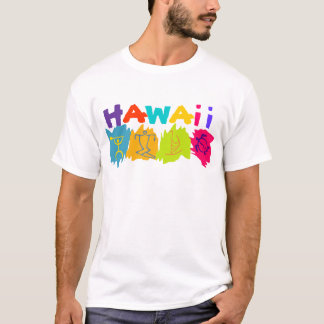 hawaii petroglyphs surfer honu canoe - Customized T-Shirt