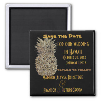Hawaii Pineapple Save the Date Magnet