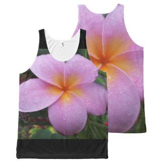 Hawaii Plumeria Flower All-Over Print Singlet