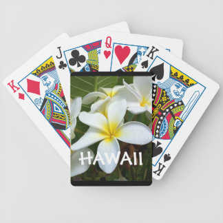 Hawaii Plumeria Flower Bicycle Playing Cards
