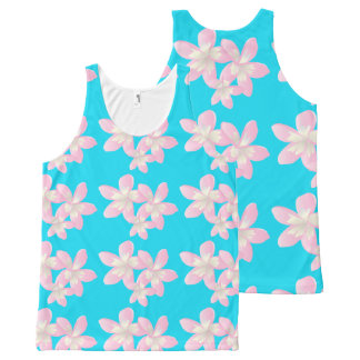 Hawaii Plumeria Flowers All-Over Print Singlet