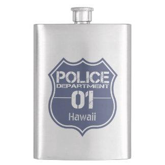 Hawaii Police Department Shield 01 Flask