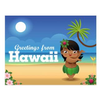 Hawaii Postcard - Hula Dancer