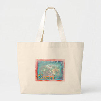 Hawaii Red Floral Large Tote Bag