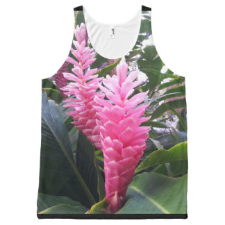 Hawaii Red Ginger Flowers All-Over Print Singlet