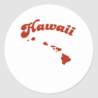 HAWAII Red State Round Stickers