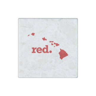 HAWAII RED STATE STONE MAGNET