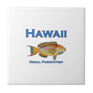 Hawaii Regal Parrotfish Small Square Tile