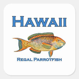 Hawaii Regal Parrotfish Square Sticker