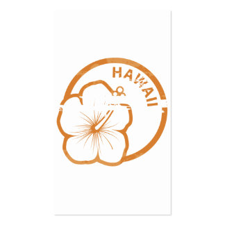 Hawaii rubber stamp Double-Sided standard business cards (Pack of 100)