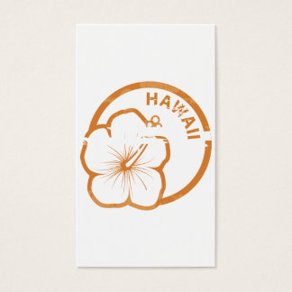 Hawaii rubber stamp business card