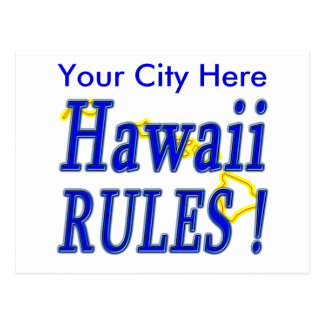Hawaii Rules ! Postcard