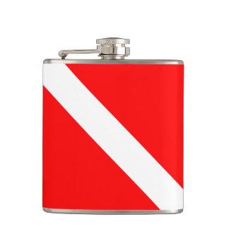 Hawaii Scuba Dive Flag Hip Flask
