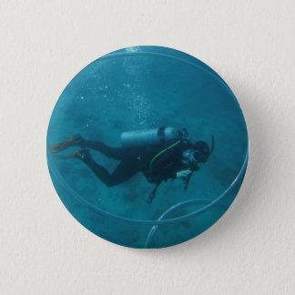 Hawaii scuba diver 6 cm round badge