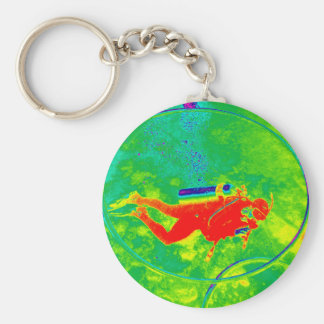Hawaii Scuba Diver Key Ring