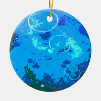 Hawaii scuba diver round ceramic decoration