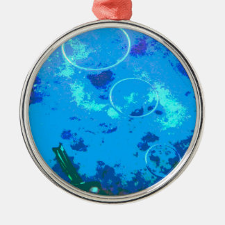 Hawaii scuba diver Silver-Colored round decoration