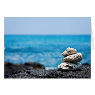 Hawaii Shoreline - White Coral, Black Lava Rocks Card