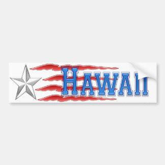 Hawaii Star and Stripes Bumper Sticker