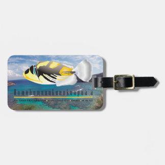 Hawaii State Fish - Humuhumunukunukuapua'a Luggage Tag