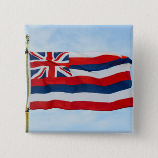 Hawaii State Flag 15 Cm Square Badge