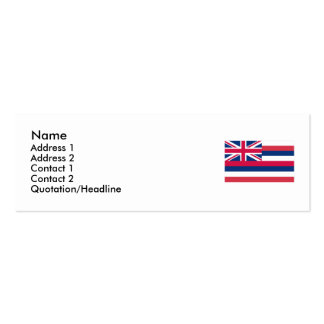 Hawaii State Flag Double-Sided Mini Business Cards (Pack Of 20)