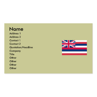 Hawaii State Flag Double-Sided Standard Business Cards (Pack Of 100)
