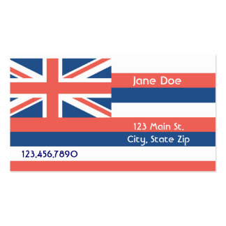 Hawaii State Flag Business Cards