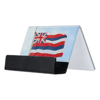 Hawaii State Flag Desk Business Card Holder