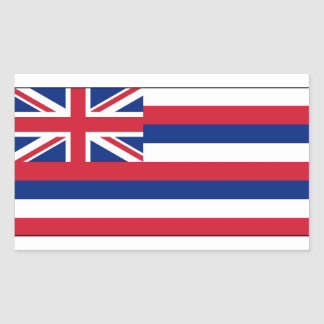 Hawaii State Flag Rectangular Sticker