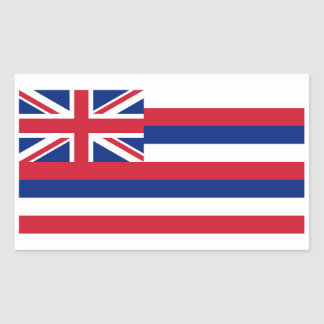Hawaii State Flag Sticker - 4 per sheet