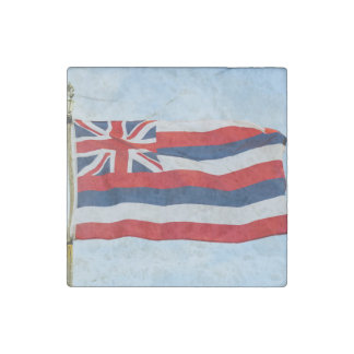 Hawaii State Flag Stone Magnet