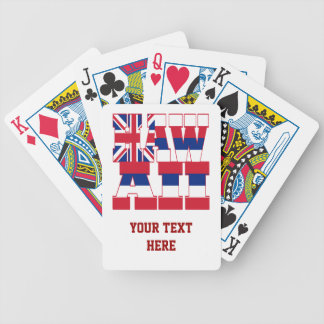 Hawaii state flag text bicycle playing cards