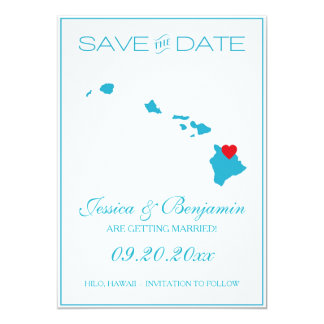 Hawaii State Map Save the Date Cards
