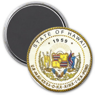 Hawaii State Seal 7.5 Cm Round Magnet