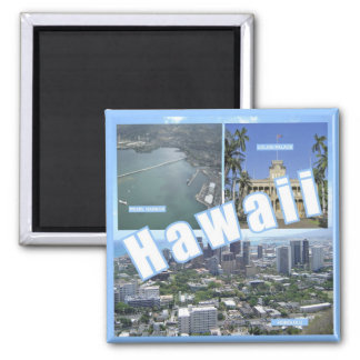 Hawaii State Travel Photo Souvenir Fridge Magnets