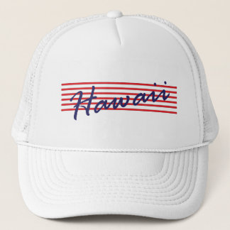 Hawaii state trucker hat