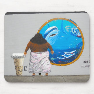 Hawaii Street Art Mural Mouse Pad
