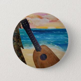hawaii sunset 6 cm round badge