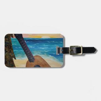 hawaii sunset luggage tag