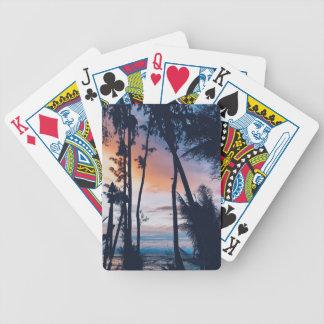 Hawaii Sunset Paradise Bicycle Playing Cards