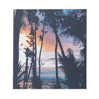 Hawaii Sunset Paradise Notepad