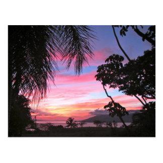 Hawaii sunset postcard