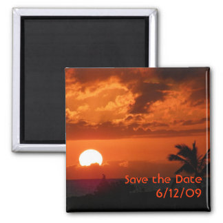 Hawaii Sunset Save the Date Magnet