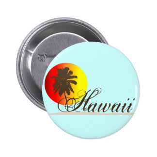 Hawaii Sunset Souvenir Pinback Button