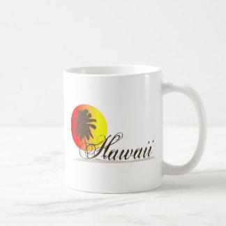 Hawaii Sunset Souvenir Basic White Mug