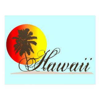 Hawaii Sunset Souvenir Postcard